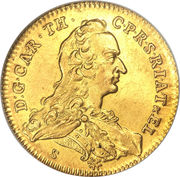 1 Ducat - Karl Theodor (Trade Coinage) – obverse