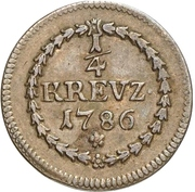 ¼ Kreuzer - Carl Theodor (Sulzbach) – reverse