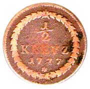 ½ Kreuzer - Carl Theodor – reverse