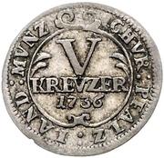 5 Kreuzer - Karl Philipp – reverse