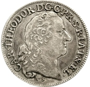 20 Kreuzer - Karl Theodor (Konventionskreuzer) – obverse