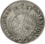 20 Kreuzer - Karl Theodor (Konventionskreuzer) – reverse