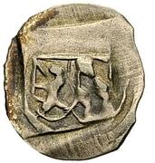 1 Pfennig - Ludwig III., Johann von Neumarkt and Otto I. of Pfalz-Mosbach (Schwarzpfennig; Amberg) -  obverse