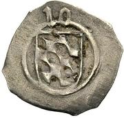 1 Pfennig - Ludwig III., Johann of Neumarkt and Otto I. of Pfalz-Mosbach (Schwarzpfennig; Amberg) – obverse
