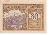 80 Heller (Pfarrwerfen) -  obverse