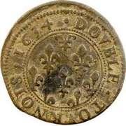 Double Tournois - Henriette of Lorraine (Principality of Phalsbourg and Lixheim, 1st type) – reverse