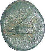 Dichalkos (Arados - Zeus alone, galley prow) – reverse