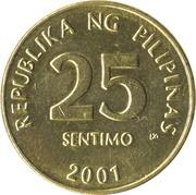 25 Sentimo – reverse