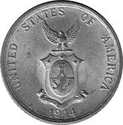 20 Centavos (U.S. Administration) – obverse