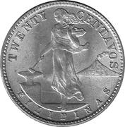 20 Centavos (U.S. Administration) – reverse