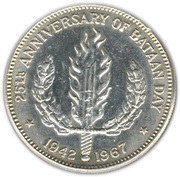 1 Peso (Bataan day) -  reverse