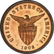½ Centavo (U.S. Administration) -  obverse