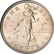 1 Peso (U.S. Administration) -  reverse