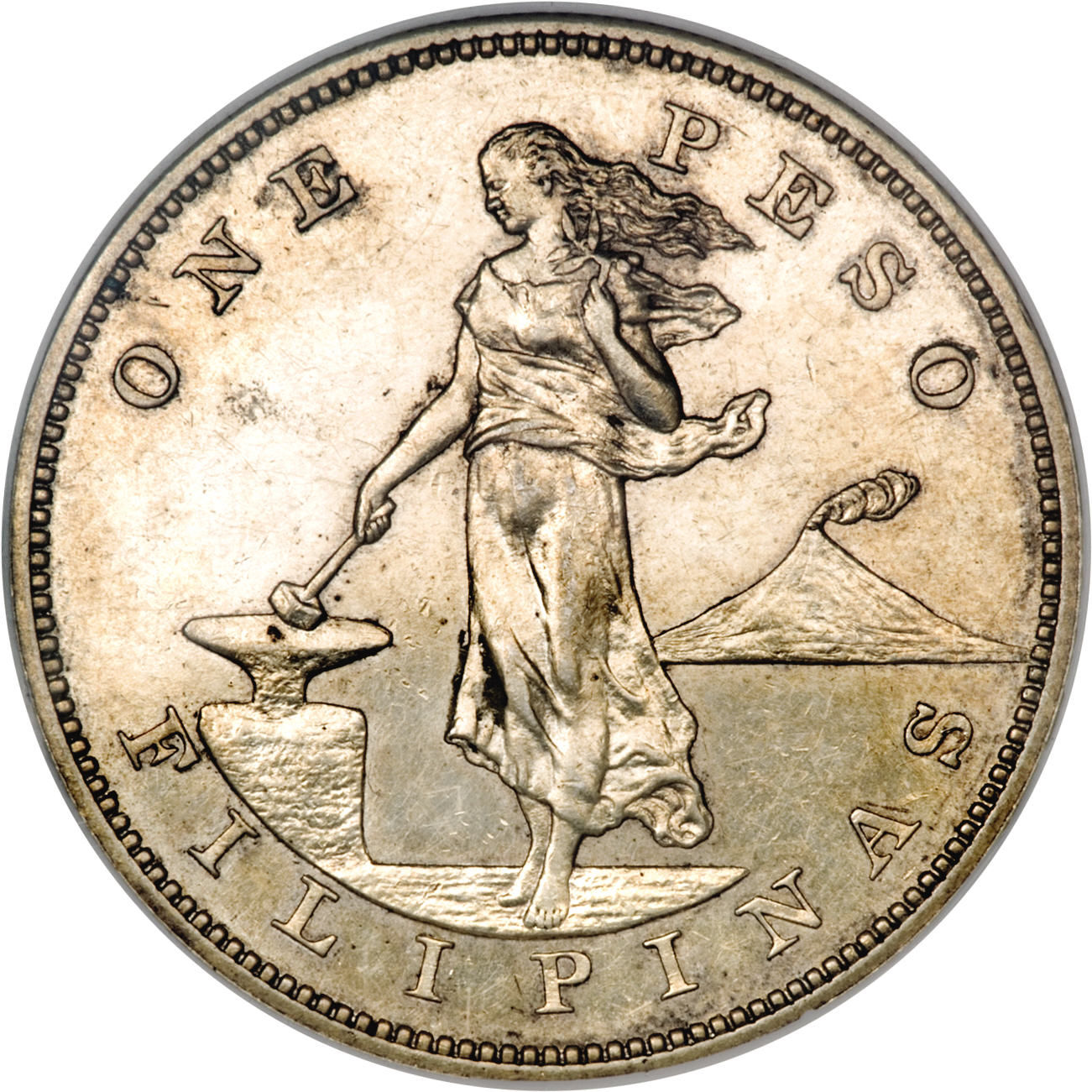 Coin Ph: 1 Peso (U.S. Administration)