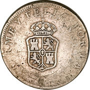 8 Reales - Fernando VII (Type I countermarked) – obverse