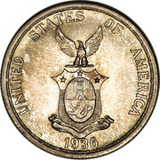 1 Peso (Commonwealth) – obverse