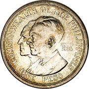 1 Peso (Commonwealth) -  reverse