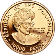 10 000 Pesos (Democracy) -  obverse