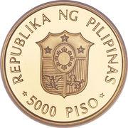 5000 Piso (Papal Visit) -  obverse
