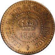 2 Centavos - Isabella II – obverse