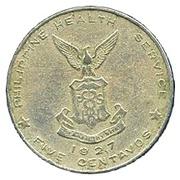 5 Centavos (Culion Island Leper Colony) -  reverse