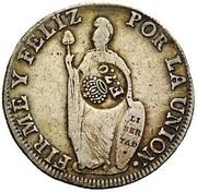 8 Reales - Fernando VII (countermarked) – reverse