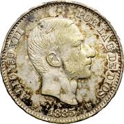 50 Centimos de Peso - Alfonso XII – obverse