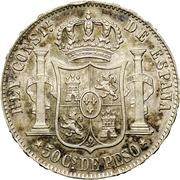 50 Centimos de Peso - Alfonso XII – reverse