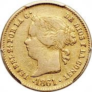 2 Pesos - Isabella II – obverse