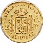 2 Pesos - Isabella II – reverse