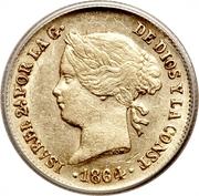 1 Peso - Isabella II – obverse