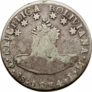 8 Reales - Isabella II (countermarked) – reverse