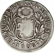 8 Reales - Isabella II (countermarked) – obverse