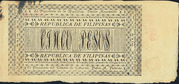 5 Pesos (Ley 30.11.1898 & 24.04.1899) – reverse