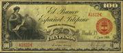 5 Pesos (Banco Español Filipino; red seal) – obverse