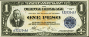 1 Peso (Conant; blue seal) – obverse