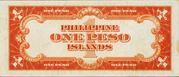 1 Peso (Mabini; Philippine Islands; red seal; orange underprint) – reverse