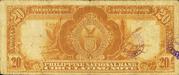 20 Pesos (William Jones; blue seal; yellow rays)