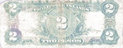 2 Pesos (Philippine Islands; treasury certificate; without Pesos over 2) – reverse