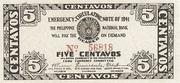 5 Centavos (Cebu) – obverse