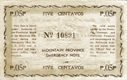 5 Centavos (Mountain Province) – reverse