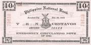 10 Centavos (Negros Occidental; Second issue) – reverse