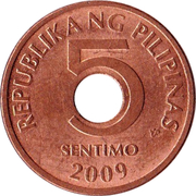 5 Sentimo -  reverse