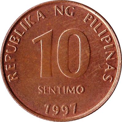 10 Sentimo Philippines Numista