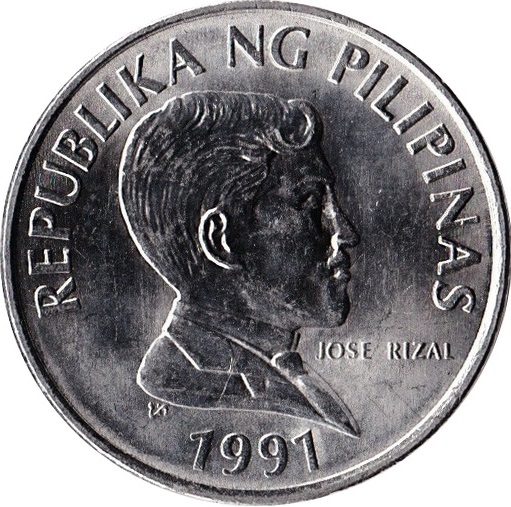 1 piso small type philippines numista
