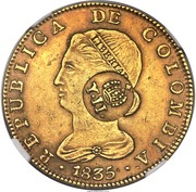 8 Escudos - Isabel II (Countermarked) – obverse