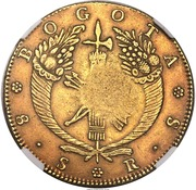 8 Escudos - Isabel II (Countermarked) – reverse