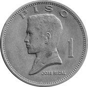 1 Piso (Jose Rizal) -  reverse