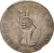 8 Reales - Isabel II (Counterstamp on Lima Peru 8 Reales) – reverse