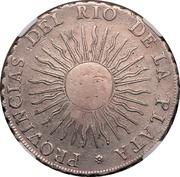 8 Reales - Isabel II (Counterstamp on Argentina 8 Reales) – obverse